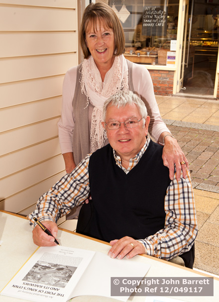 Mike and Darral at the book signing at the The Willow Tree 28.09.2012 King's Lynn add name © 2012. John Barrett LRPS