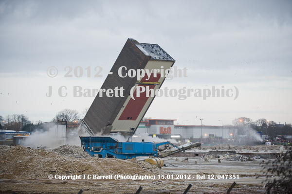 Demolition of Campell's Tower 15th January 2012
