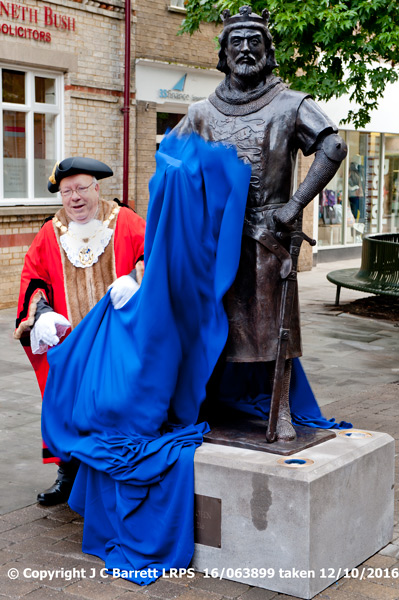 unveiling the statue of King John